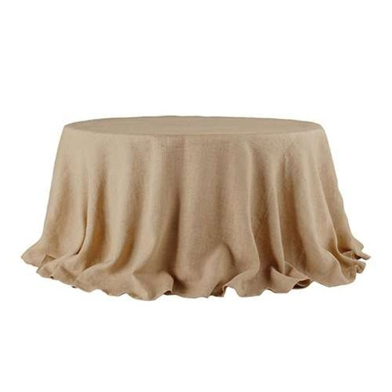 Natural Burlap Tablecloth Overlay Jute Tablecloth Rustic