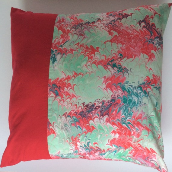 Christmas pillow cover, hand-painted