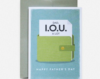 Father's Day Greeting Card IOU