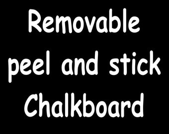 Removable Peel and Stick Chalkboard Photography Props - Use standard or liquid chalk to write announcements in your photo shoots