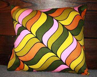 11x11 60's print throw pillow