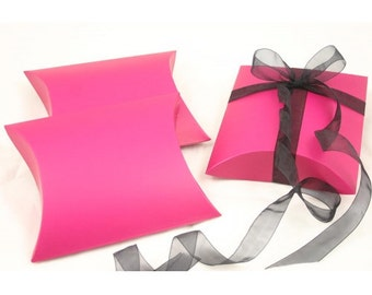 Hot Pink Pillow box, Jewellery packaging, Wedding Favor box, Gift Box, 120 x 140 mm, 10 piece/pack