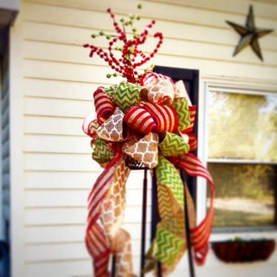 Whimsical Burlap Ribbon Tree Topper