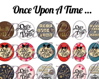 Once Upon A Time - Homepage for cabochons - 60 pictures to print digital images