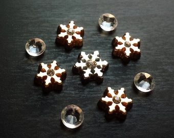 Snowflake Floating Charm Set for Floating Lockets-9 Pieces-Gift Ideas