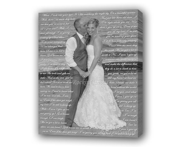 church wedding vows wedding photo canvas art