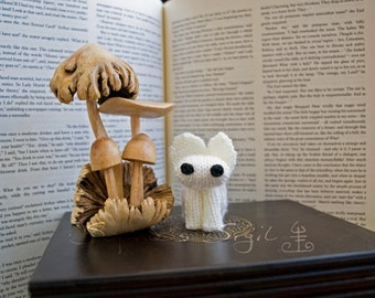 Ghost Bunny – The Monster Collection - Little Hand-Knitted Collectible Amigurumi Keepsake, Gift, Toy