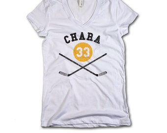 Zdeno Chára NHLPA Officially Licensed Boston Womens V-Neck S-2XL Zdeno Chára Sticks Y