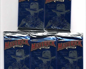 Maverick The Movie lot of 5 packs of trading collector cards from the 1995 by Cardz