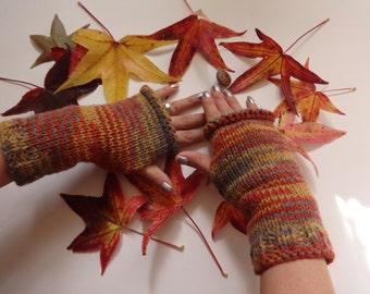 Fall Trace Wrist Warmer / Fingerless gloves