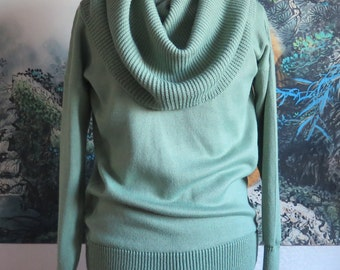 "Knitted sweater-dress ""mint"""