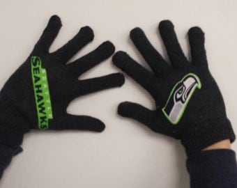 Seattle Seahawks Stretch Gloves -One size fits most