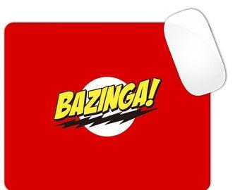 Bazinga Red Mouse Pad