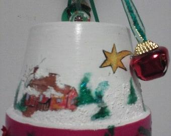 Winter Scene * Ceramic Windchimes