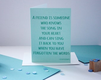 Song In Your Heart Card
