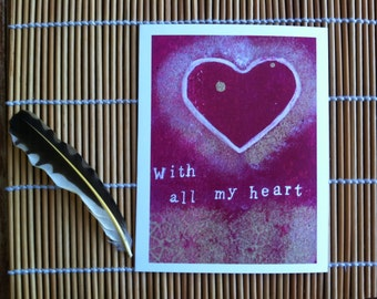 With All my Heart- Postcard