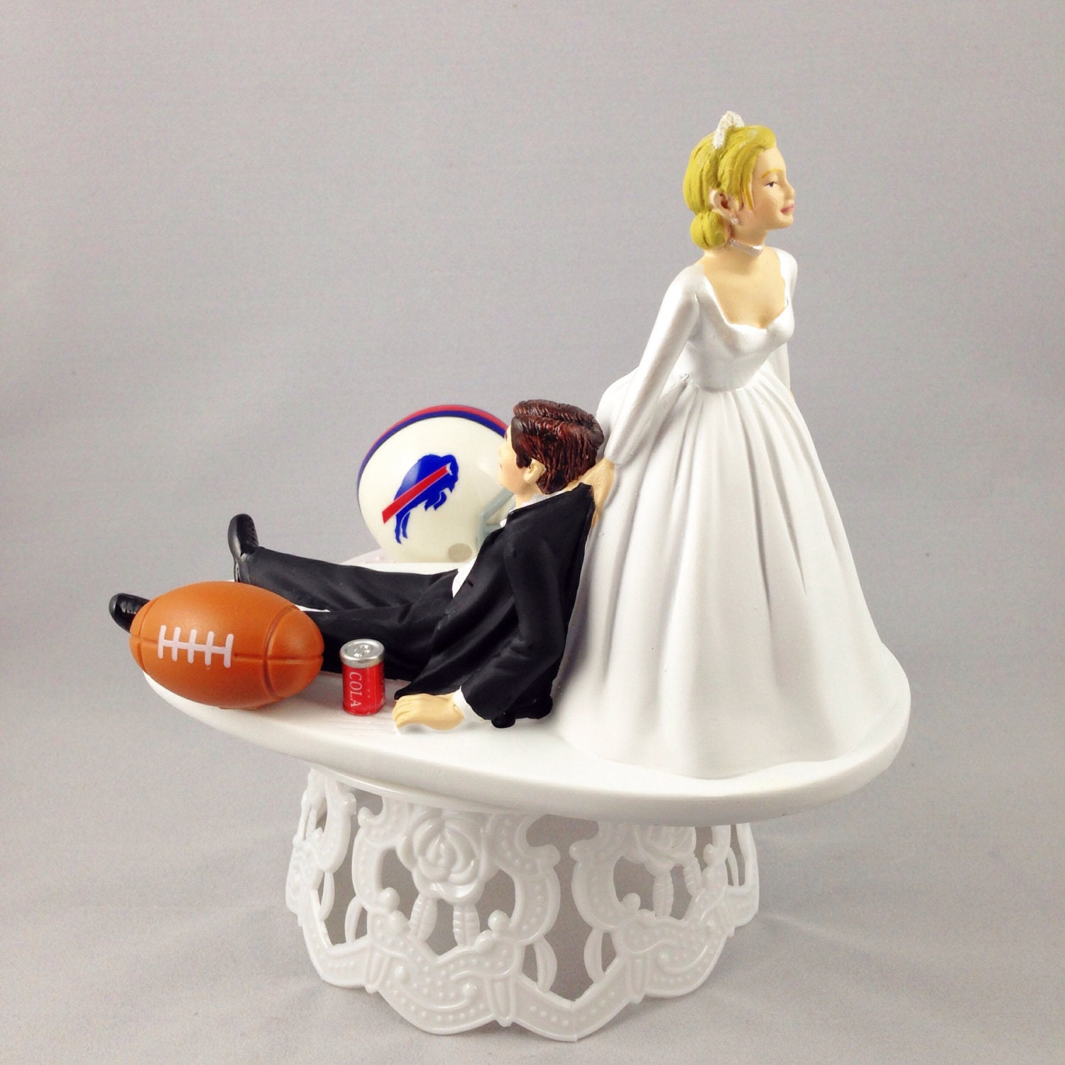 funny cake toppers wedding cake topper football themed by creationsbydhyani 4424