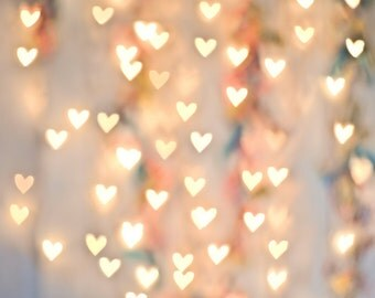 Hearts Bokeh - Vinyl Photography Backdrop and Floor Drop