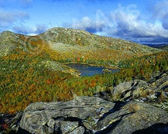 Tumbledown Mountain Weld Maine Panoramic Color Art Print by Maine Photographer  MADE IN USA