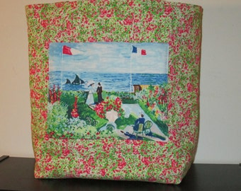 A Large Monet Tote Bag with a Pocket