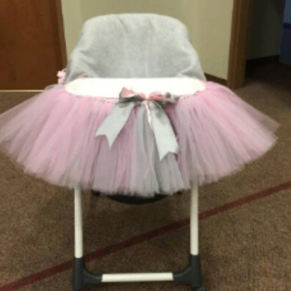 custom made tulle high chair tutu skirt by