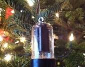 5 Classic Vintage Glass Audio Tubes: Christmas Ornament Tree Decoration Stocking Stuffer Xmas