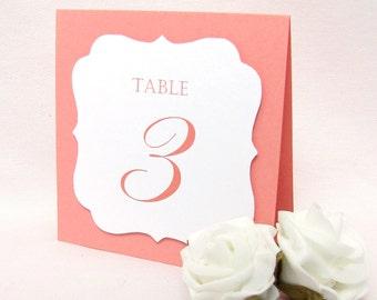 Table numbers wedding - Wedding table numbers - Table number cards - Reception table numbers - Table numbers