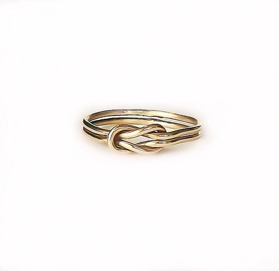 gold knot ring celtic knot ring promise by