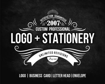 Logo Design, Custom Logo Design, Custom Logo Design & Stationery Design - Business Card, Letter Head, Envelope