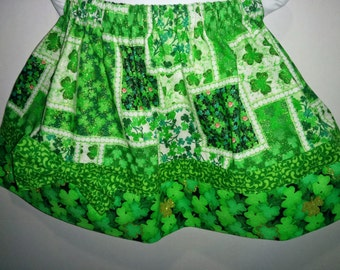 Baby Infant Toddler Girls Shamrock Clover Glitter St Patrick Patrick's Patty's Pattys Day Boutique Skirt! St Paddy Paddy's Day Shamrocks