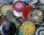 600 pieces. Watch Face Dials, From Old Watch Parts, & Dials For Steampunk Altered Art Gear, Repair, or ScrapBooking /G25