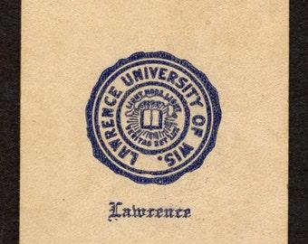 C. 1900 Leather Tobacco Premium, College Series, Lawrence University