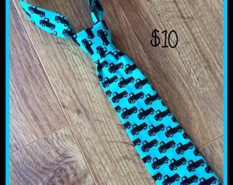 SALE ~ 1/2 PRICE SALE!!!     Little Boy Necktie / Handmade Little Boy Neck Tie ~ Trucks