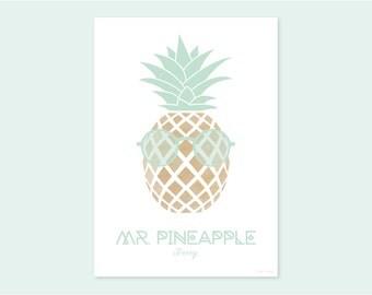 A4 print MR. PINEAPPLE Jimmy