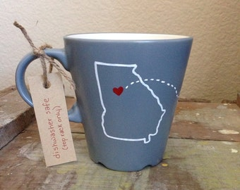 Long Distance Mug with Two States or Countries. Best Friend Mug. Long Distance Gift. Birthday Gift. Best Friend Gift. Birthday Gift under 25