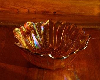 Vintage Carnival Glass Decorative Candy Dish