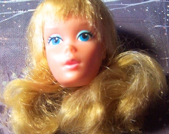 Vintage Blonde Blond Barbie Doll Head 1974 Sweet 16 16th Anniversary