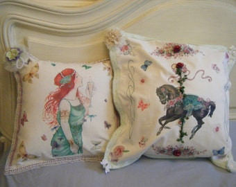 Vintage style cushion covers - ideal Mothers Day, birthday, anniversaries, Brides gift,
