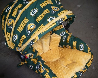 Green Bay Packers, Infant Car Seat Replacement Cover. You choose colors. All NFL teams available