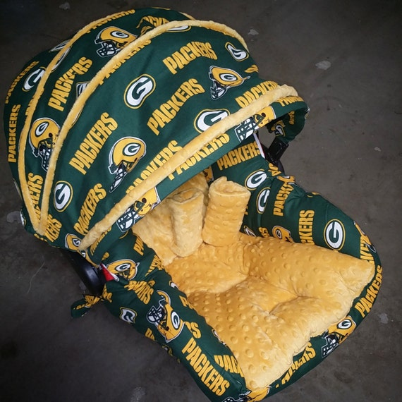 green bay packers infant car seat replacement cover you. Black Bedroom Furniture Sets. Home Design Ideas