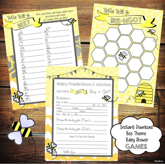 bee baby shower games yellow and grey baby shower games baby shower