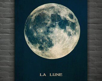 La Lune Or Luna(The Moon),Full Moon Print Poster Wall Art - Home Decor - Moon Print No. 241/241a