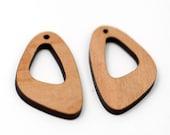 2 Bent Oval Hoop Beads : Cherry