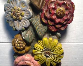 Gips flowers garland