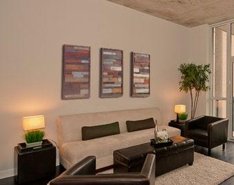 Reclaimed Barnwood Wall Art - Set of Three