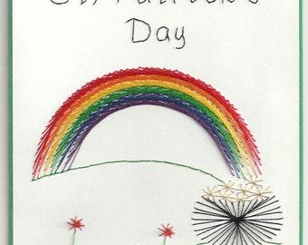 St. Pat's Rainbow Card
