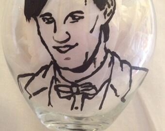 Doctor Who Wine Glass with Matt Smith