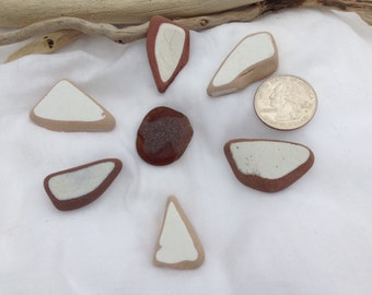 Beach glass Sea glass pottery, jewelry supplies.