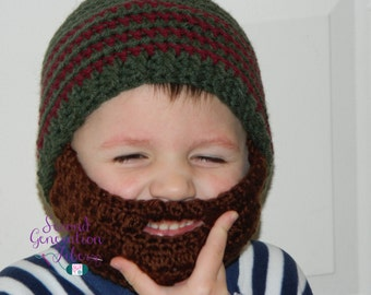 Crochet beard hat, beard beanie, beard hat, infant beard hat, toddler beard hat, child beard hat, teen beard hat, adult beard hat, beanie