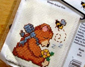 Sleepy Bear Stitch N Hang Busy Bees Counted Cross Stitch Ornament Kit
